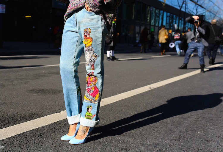 embroidered denim, italist magazine, stella mccartney, dsquared2
