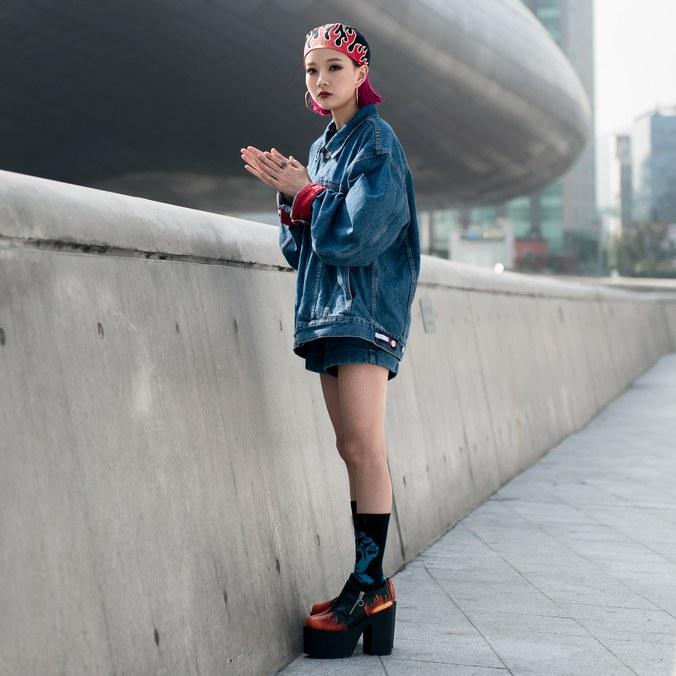 seoul fashion week ss17, seoul street style, korean fashion, fall denim