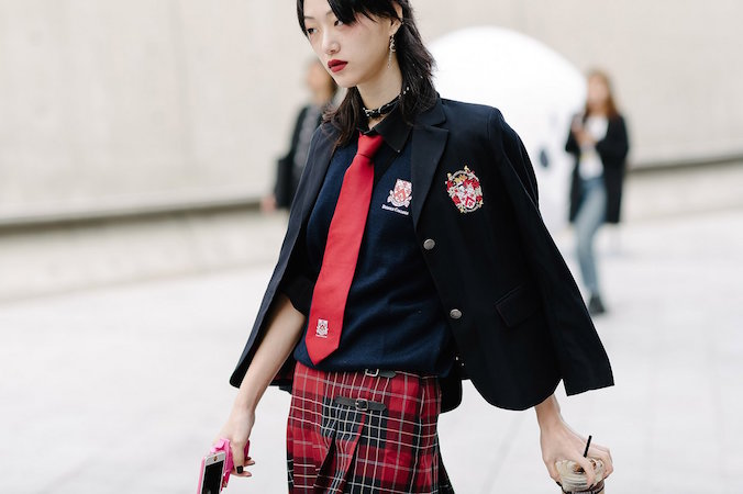 school girl trent, seoul fashion week ss17, seoul street style