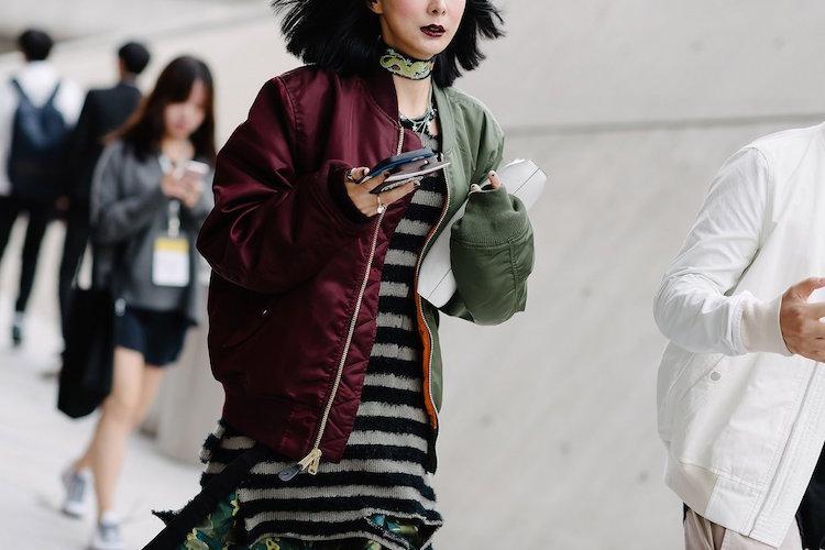 seoul fashion week ss17, seoul street style, seoul outerwear, korean street style