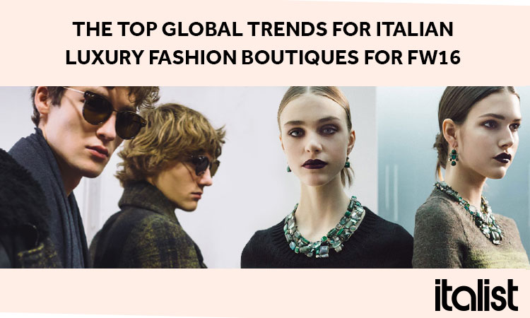 Fashion infographic, Fashion Trend Report, Italian Luxury Fashion Boutiques, italist.com