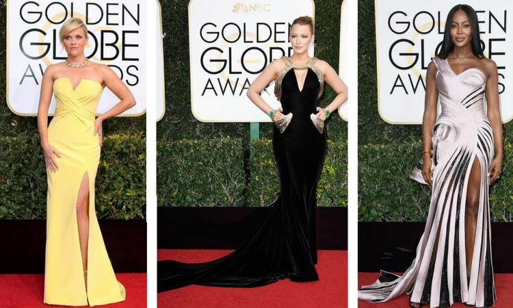 Versace Dress, Golden Globes, Italist magazine, versace gown