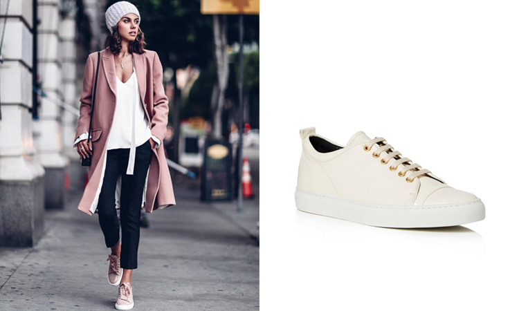 The Lanvin Womens Sneakers Everyone is Wearing at New York Fashion Week - Italist Magazine