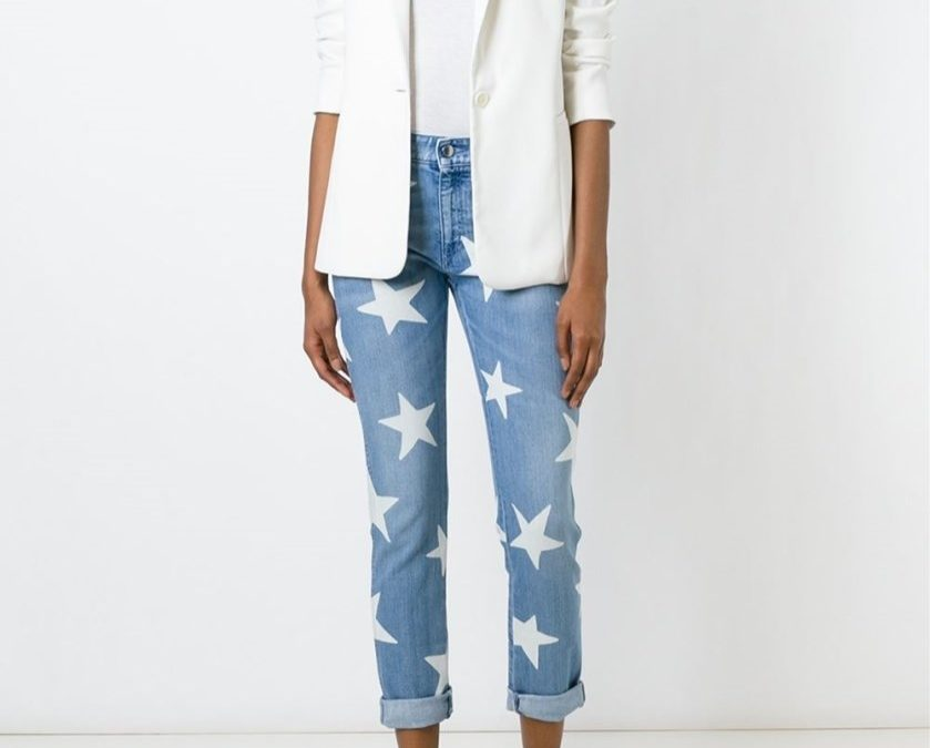 Shine Bright with Stella McCartney's Ankle Glazer Star Jeans
