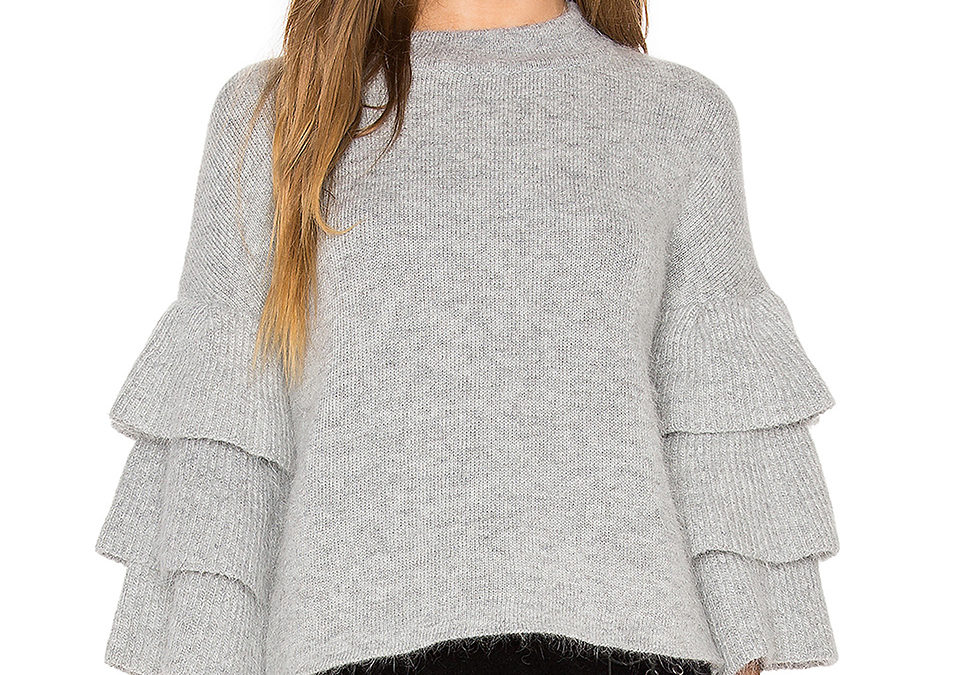 Can we all say YES to ruffle sweaters
