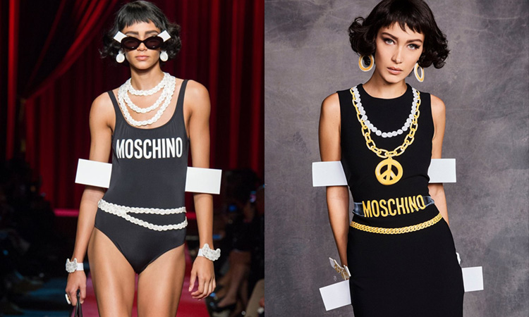 BRIGHT LOUD ECCENTRIC. MOSCHINO.