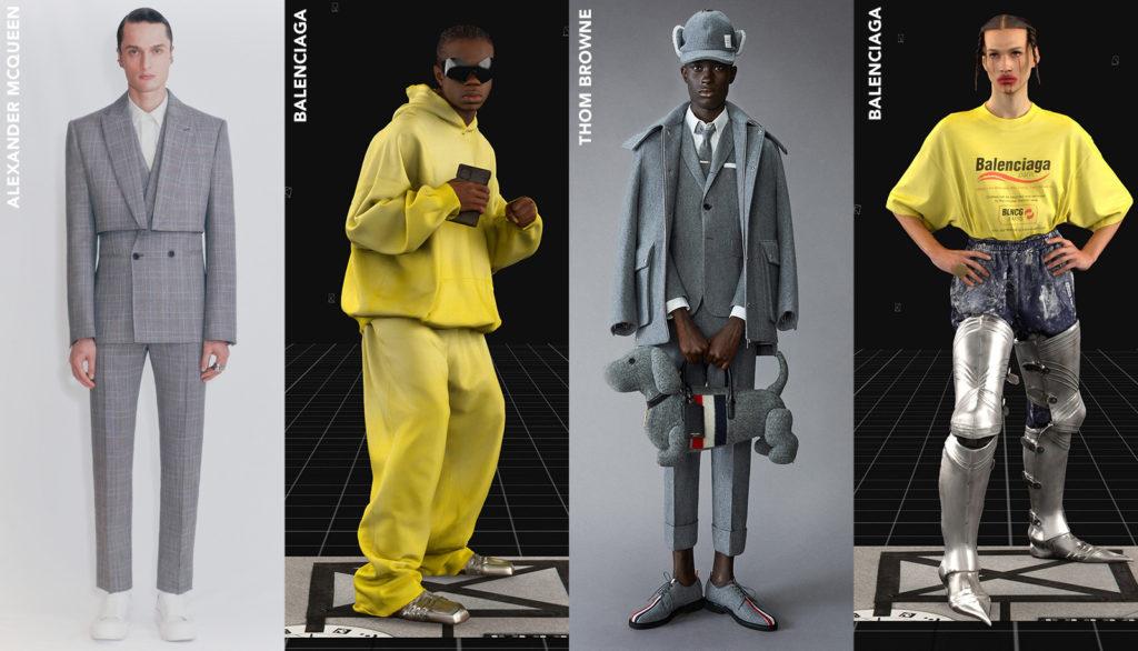 pantone color of the year 2021 illuminating yellow and ultimate gray men's designer runway looks